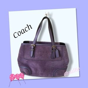 COACH PURPLE SUEDE PURSE